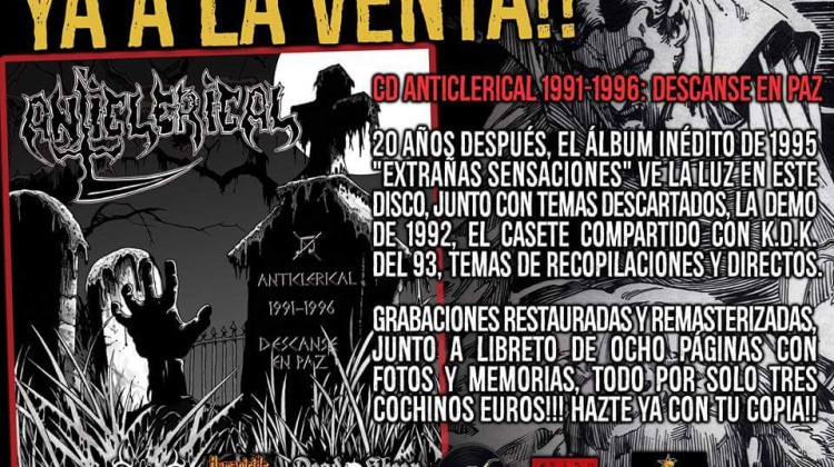 "ANTICLERICAL ""1991-1996:DESCANSE EN PAZ"" CD"